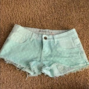 Element icy aqua shorts